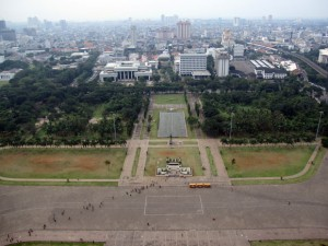 View of Jakarta from National Monument