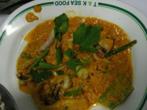 thai egg and squid curry