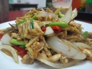 thai chicken with ginger