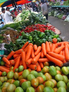 kota kinabalu vegetable vendor