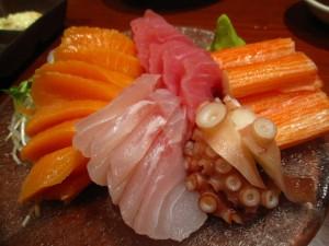 Raw fish sushi