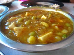 aloo mutter indian food in bangkok