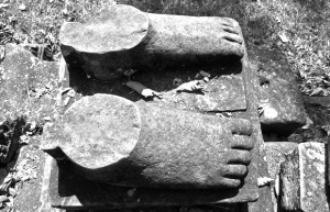 stone feet carving
