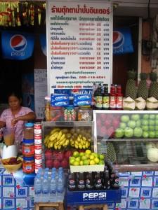 nang loeng market fruit shake stall