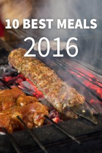 Discover 10 of the best travel food meals of 2016!
