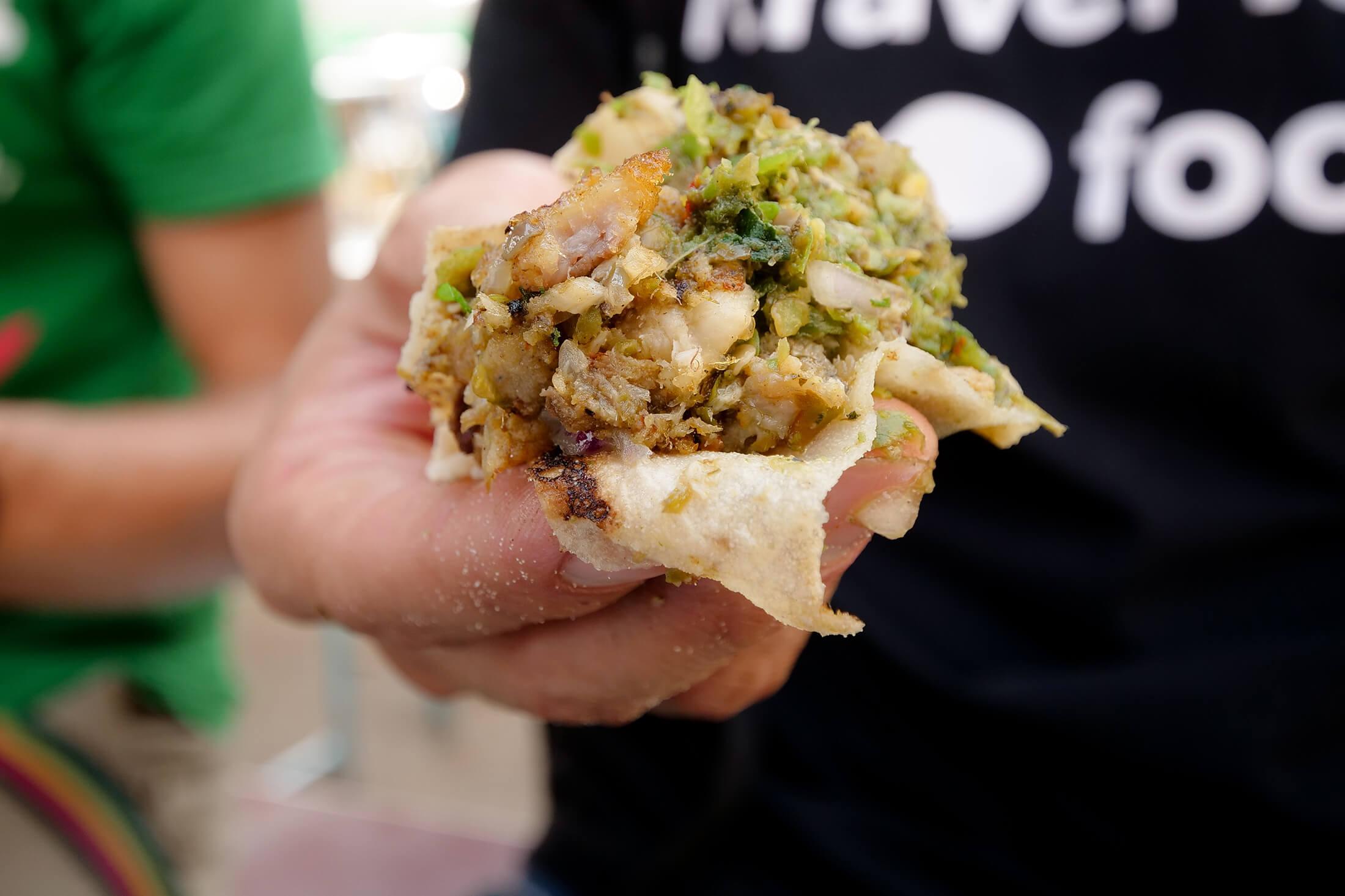 "amazing restaurant serving minced fish meat, ""katakat"" style"