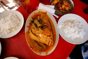 Wonderful local style curry, and a huge Indian style fish head curry