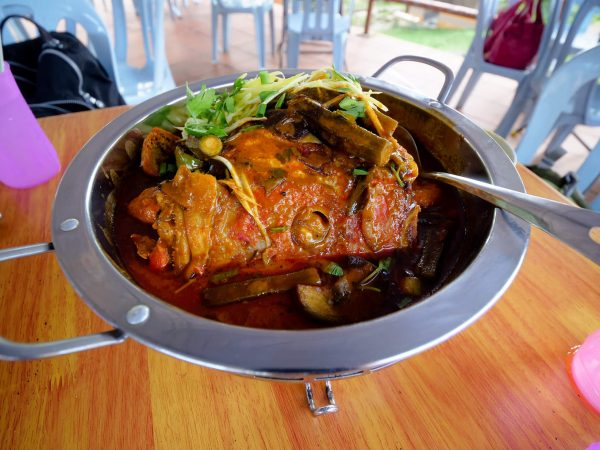 Amazing Fish Head Curry at Tugu View Cafe